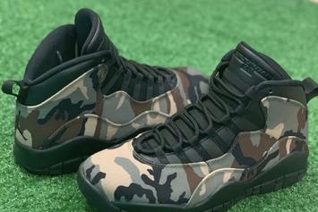 Air Jordan 10 Camo Rumored To Release This Month: New Images
