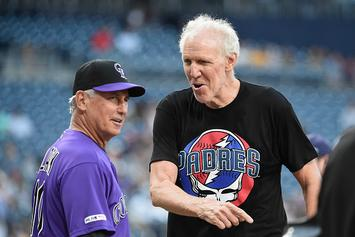 """Bill Walton Throws Horrendous First Pitch, Delays Game On """"Grateful Dead Night"""""""