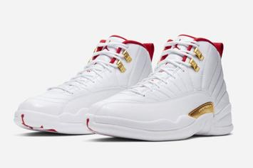 "Air Jordan 12 ""FIBA"" Set To Drop Next Week: Official Photos"