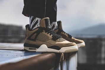 "Air Jordan 4 ""Mushroom"" On-Foot Images, Release Date Announced"