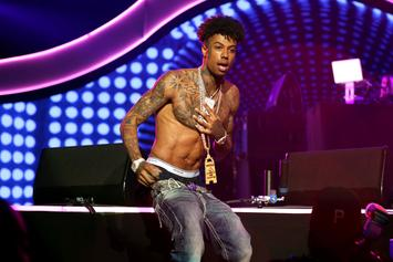 Blueface Pulls Off Epic Stage Dive During Concert: Watch
