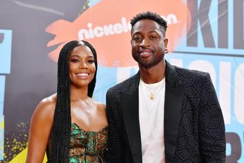 Gabrielle Union Wears Dwyane Wade All Over Her Body With Hilarious Dress