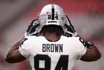 "Antonio Brown Tells Raiders ""Release Me"" In New Instagram Post"