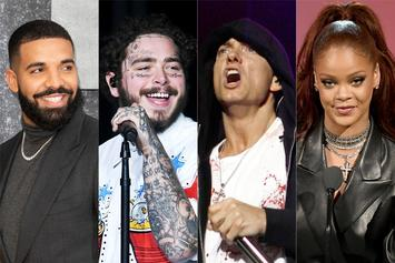 Drake, Post Malone, Eminem, & Rihanna Are Spotify's Most Popular Artists Ever