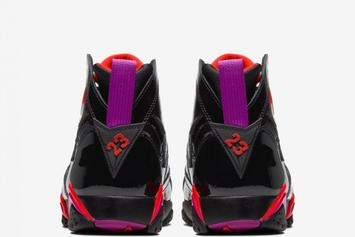 "Air Jordan 7 Patent Leather ""Raptors"" Releasing This Month: First Look"