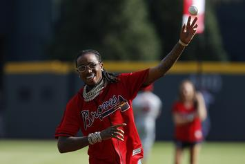 Quavo Throws Out First Pitch At Braves' NLDS Game 2: Watch