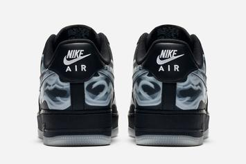 "Nike Air Force 1 Low ""Black Skeleton"" Release Date Confirmed: Official Photos"