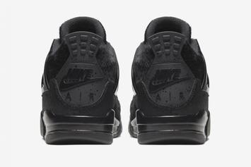 Air Jordan 4 x Olivia Kim Collab Looks Sleek In All-Black Colorway: Official Images