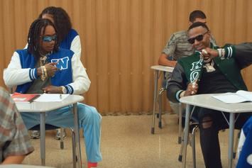 "Wiz Khalifa & Moneybagg Yo Are Frat Leaders At Taylor U In ""Never Lie"" Video"