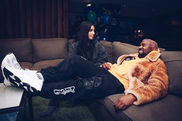 "Kanye West & Kim Kardashian Channel ""The Flinstone's"" For Adorable Costume"