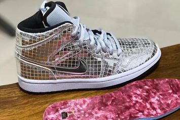 "Air Jordan 1 Mid ""Disco Ball"" Nods To The Academy Awards: First Look"
