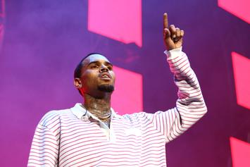 Chris Brown Shares Video Completing Spray-Painted Artwork