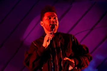 "The Weeknd Gets Swarmed By Huge Sea Of Fans Outside ""Colbert Show"""