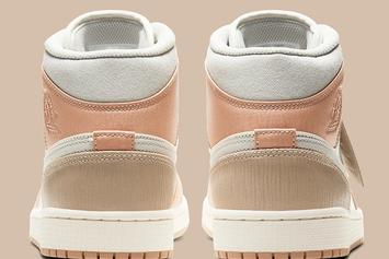 "Air Jordan 1 Mid ""Milan"" Gets Dressed In Premium Materials: Official Photos"