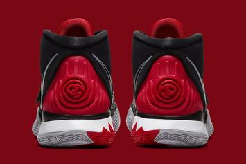"""This Nike Kyrie 6 Pays Homage To The Air Jordan 4 """"Bred:"""" Details"""