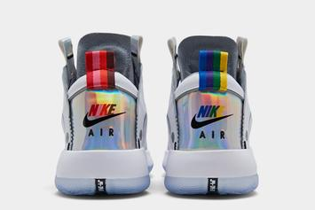 Air Jordan 34 Releasing In Iridescent Rainbow Colorway: First Look