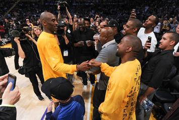 Kanye West Tributes Kobe Bryant With Rare Throwback Studio Picture