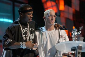 "Eminem Praises 50 Cent At Walk Of Fame Ceremony: ""This Guy Is F*cking Relentless"""