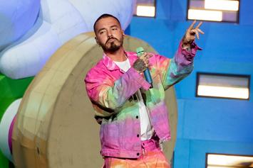 J Balvin Debuts Insanely Colorful Air Jordan 1 During Super Bowl: Photos