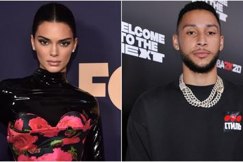 Kendall Jenner & Ben Simmons Cuddle By The Pool Following Super Bowl