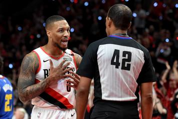 """Damian Lillard Calls Refs' Apology For Missed Call """"Punk A** Sh*t"""