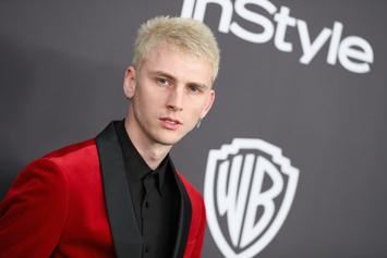 Machine Gun Kelly Swims With Pigs While Vacationing In The Bahamas