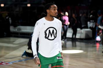 Quavo Storms The Court After Trae Young Drops A Light 50: Watch