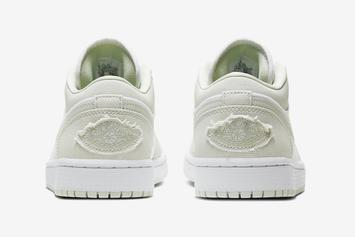 "Air Jordan 1 Low ""Spruce Aura"" Brings Us Closer To Summer: Photos"