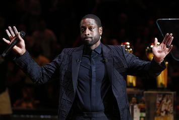 Dwyane Wade Relfects On Kobe Bryant During Miami Heat Jersey Retirement