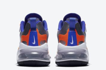 "Nike Air Max 270 React Gets ""Knicks"" Treatment: Photos"