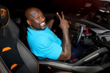 Shaq Spends Quarantine With Mystery Lady Friend