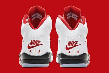 """Air Jordan 5 """"Fire Red"""" Drops Today: Purchase Links"""