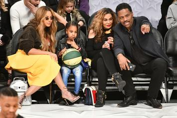 Tina Knowles Manages To See Beyonce, Jay-Z & Their Kids From A Distance