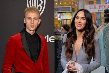 Machine Gun Kelly Hucks Megan Fox Over His Shoulder While Leaving Bar