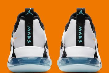 "Jordan Mars 270 Low Gets ""Orange & Aqua"" Colorway: Photos"