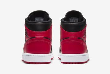 "Air Jordan 1 Mid ""Bred"" Unveiled: Official Photos"