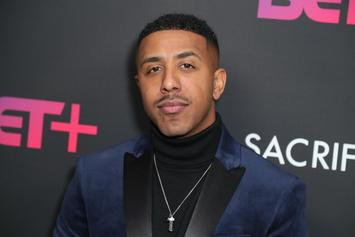 Marques Houston & Miya Dickey Marry, Share Photos Of White & Gold Wedding
