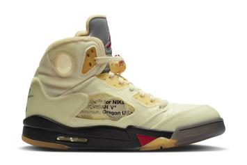 """Off-White x Air Jordan 5 """"Sail"""" Delivers Large Returns To Resellers"""
