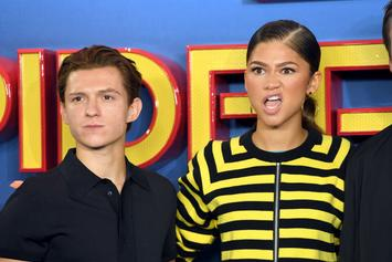 "Tom Holland & Zendaya Arrive In Atlanta For ""Spider-Man 3"""