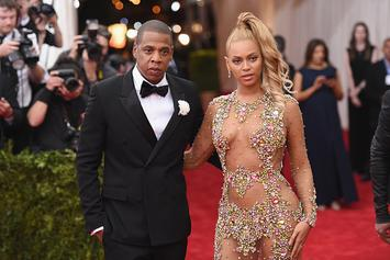 Beyoncé Flaunts Her Curves In Red Leather MiniSkirt For Jay-Z Valentine's Day Date