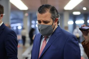 Ted Cruz Posts Photos Of Himself Passing Out Water, Twitter Clowns Him