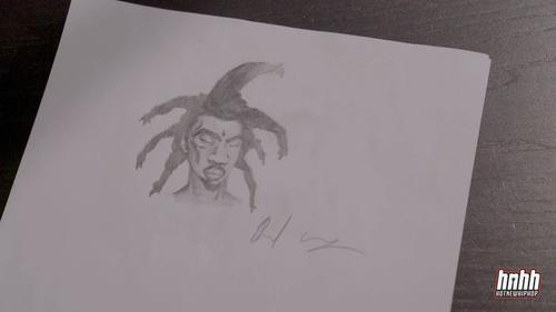Denzel Curry's cartoon character drawn for HNHH