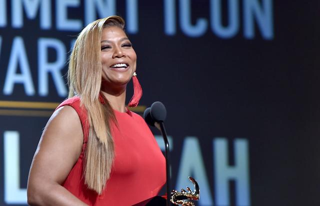 Honoree Queen Latifah accepts the Entertainment Icon Award onstage during BET Presents the American Black Film Festival Honors on February 17, 2017 in Beverly Hills, California.