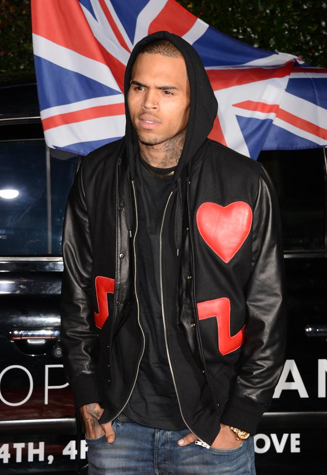Chris Brown arriving at Topshop Topman LA Opening Party At Cecconi's