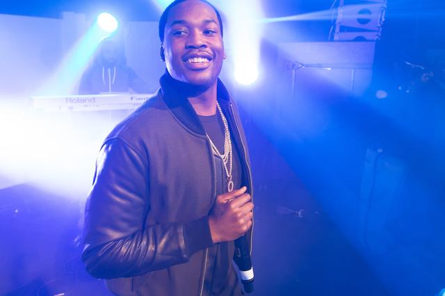 Meek Mill at the e BACARDI UNTAMABLE HOUSE PARTY