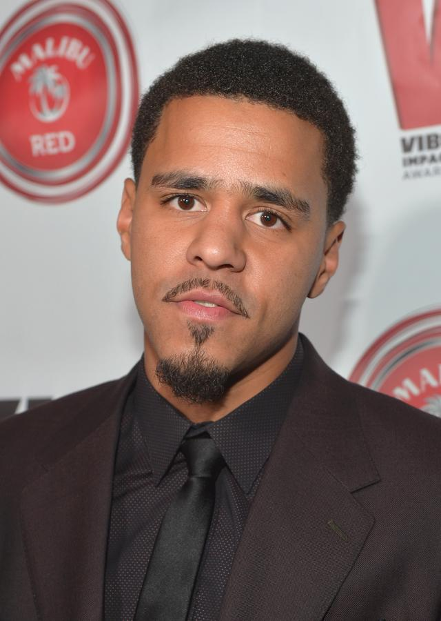 J. Cole at a VIBE event
