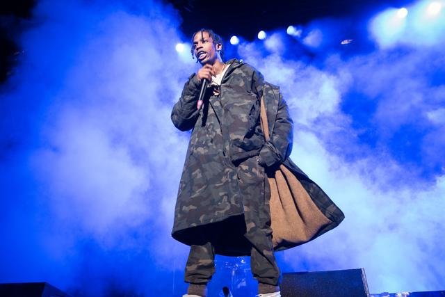 Travis Scott performing at 1st Annual Roc City Classic