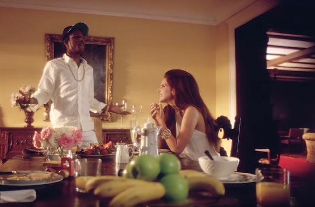 "ASAP Rocky and Lana Del Rey in ""National Anthem"" music video"