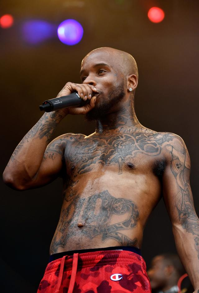 Tory Lanez performing at Hangout music festival