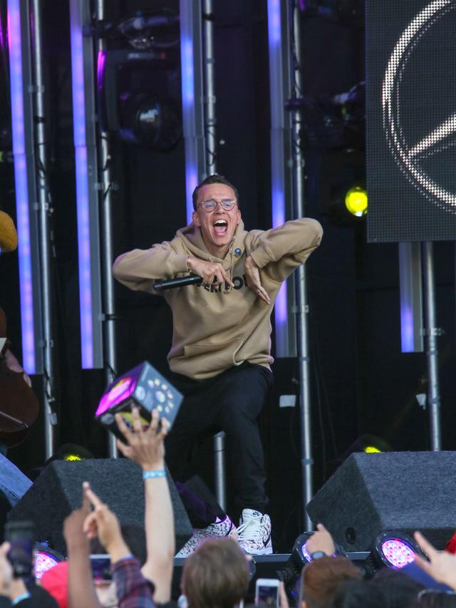 Logic wearing an Everybody hoodie
